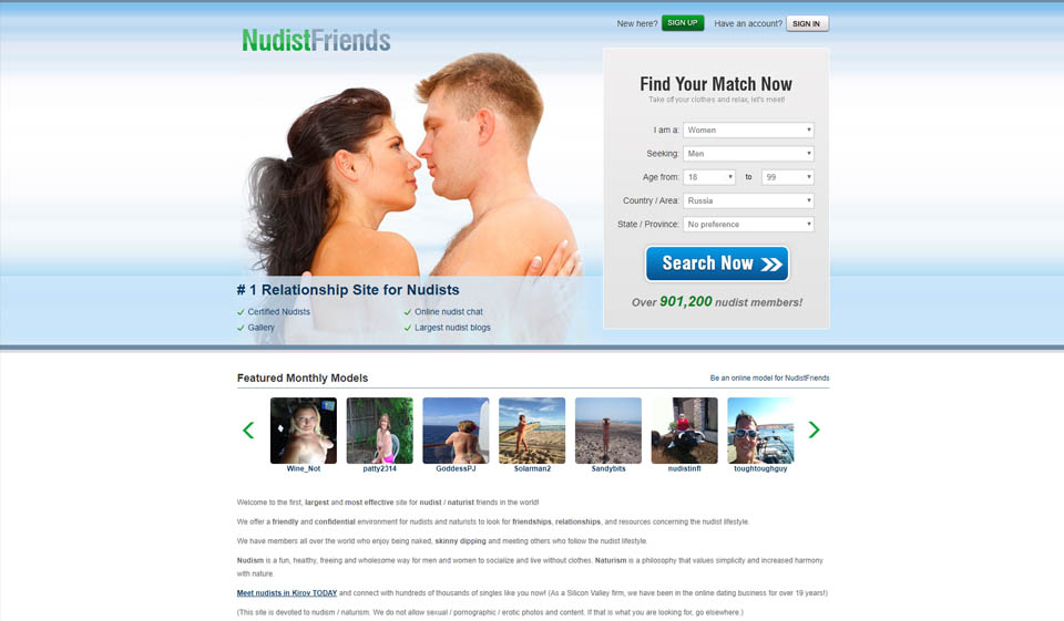 NudistFriends Recensione 2021