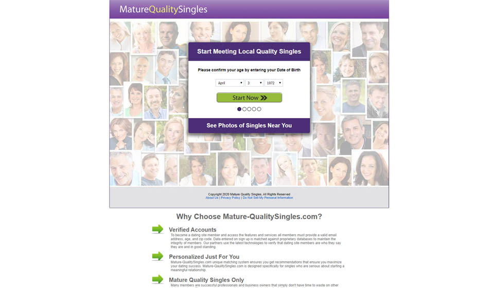 Mature Quality Singles Recensione 2021